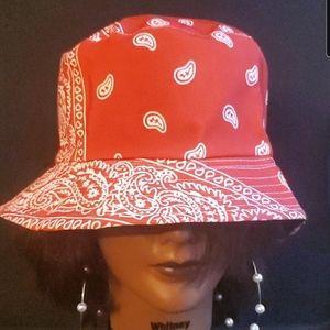 Bandana Bucket Hat w/ Free earrings
